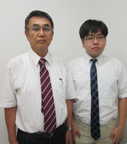 塚本 廣実  (左)     .     副塾長   : 内藤 彰永(右)塾長画像