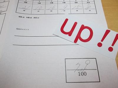 大穂中学校 学年末テスト【英語37点 国語22点アップ】おめでとう!!画像